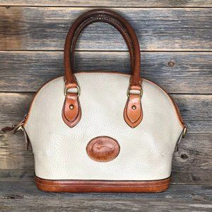 Dooney & Bourke Oatmeal Tan Vintage Norfolk Purse